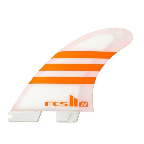 FCS FINS II JW PC LARGE ORANGE WHITE TRI