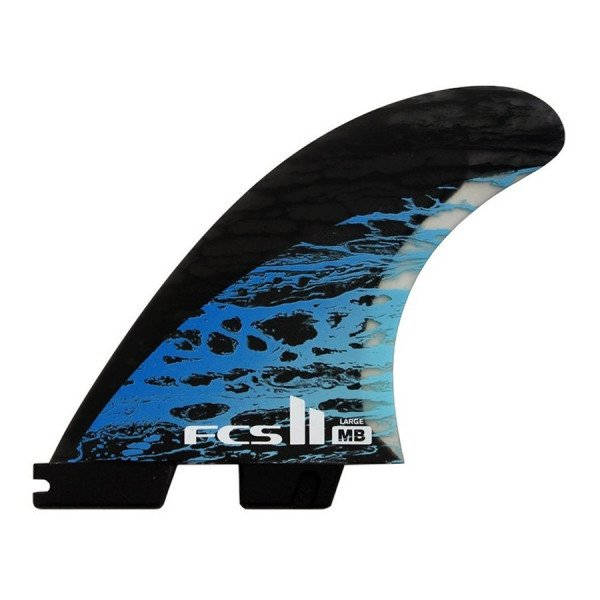 FCS FINS II MB PC CARBON BLUE LARGE TRI