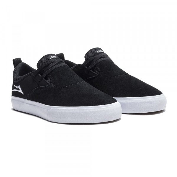 LAKAI SHOES RILEY 2 BLACK WHITE SUEDE S19
