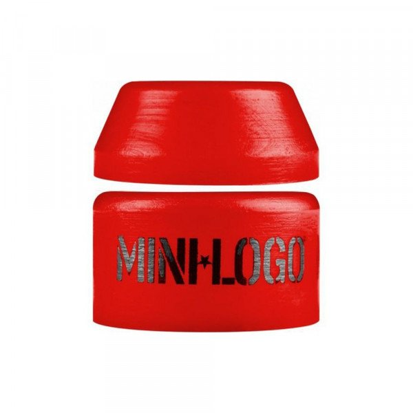 MINI LOGO BUSHINGS HARD PAIR RED