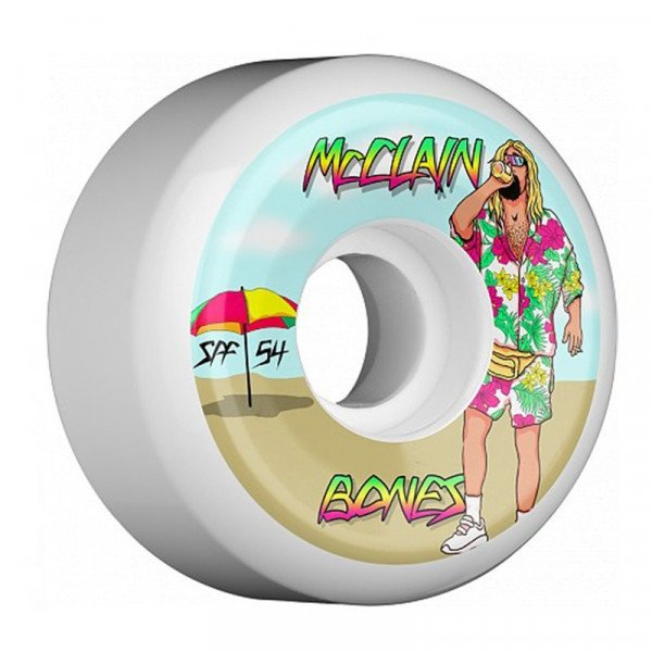 BONES WHEELS MCCLAIN BEACH BUM 54MM SIDECUT
