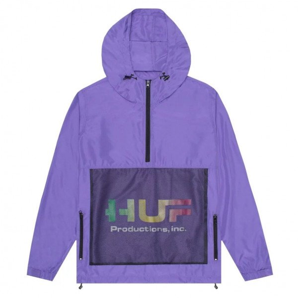 HUF JACKET PRODUCTIONS INC ANORAK JACKET ULTRA VIOLET S19