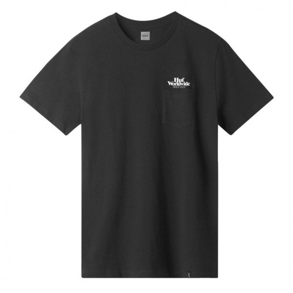 HUF T-SHIRT ISSUE LOGO POCKET BLACK S19