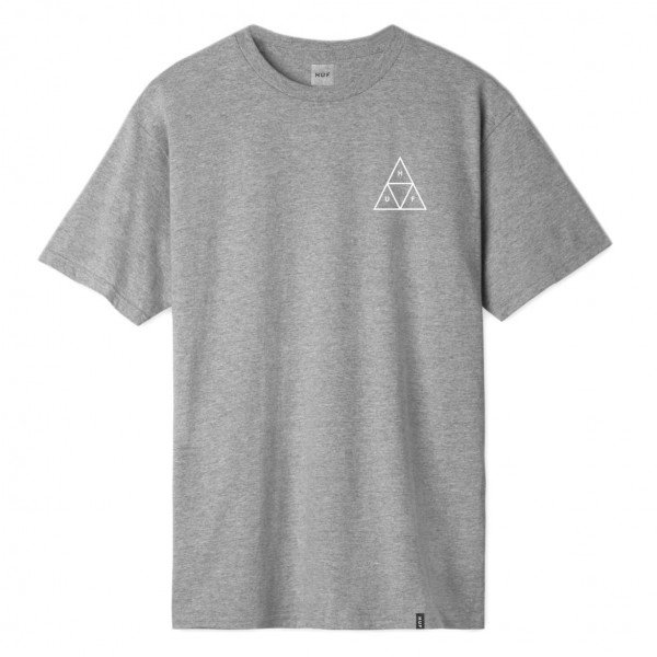 HUF T-SHIRT ESSENTIALS TRIPLE TRIANGLE GREY HEATHER S19