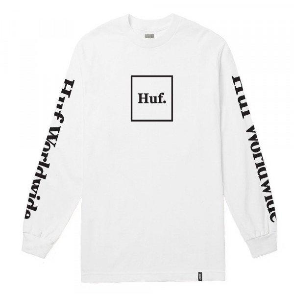 HUF KREKLS DOMESTIC L/S WHITE