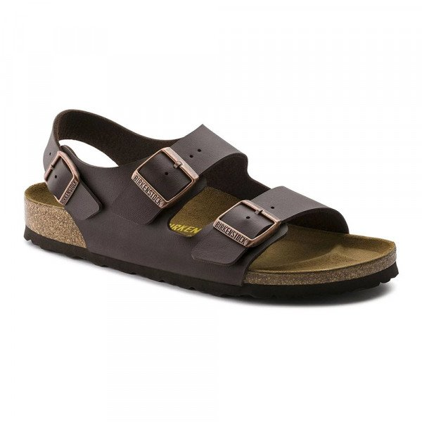 BIRKENSTOCK SHOES MILANO BF DARK BROWN S19