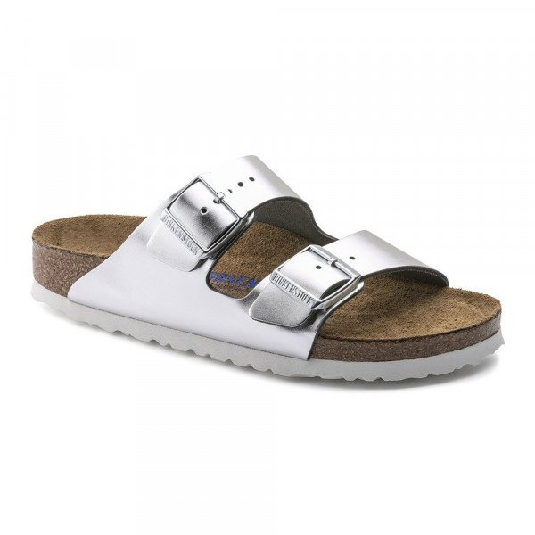 BIRKENSTOCK SHOES ARIZONA NL SFB METALLIC SILVER S19