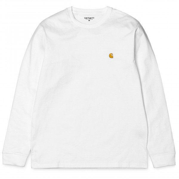 CARHARTT T-SHIRT L/S CHASE T-SHIRT WHITE GOLD (923) S19