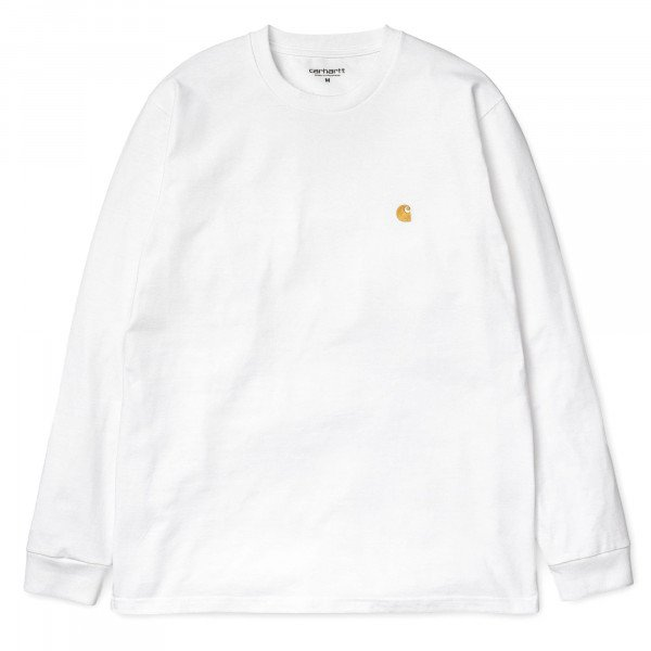 CARHARTT LONGLSEEVE L/S CHASE T-SHIRT WHITE GOLD S19
