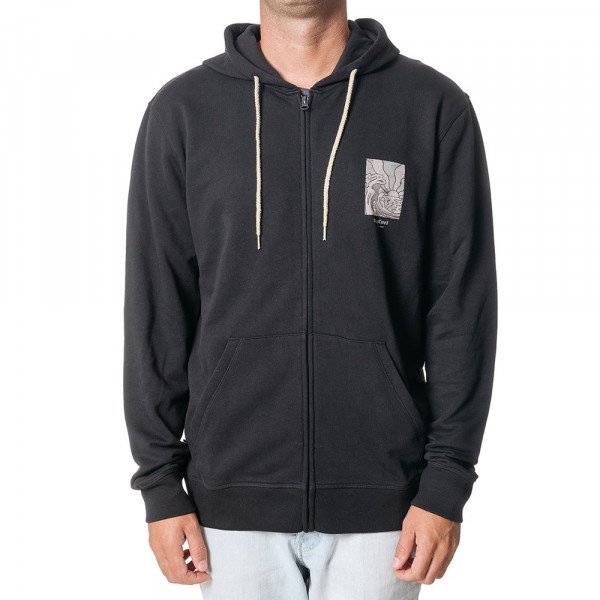 RIP CURL ZIP-HOOD SUN DRENCHED FLEECE BLACK S19