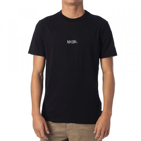 RIP CURL T-SHIRT MADSTEEZ FREEHAND TEE BLACK S19