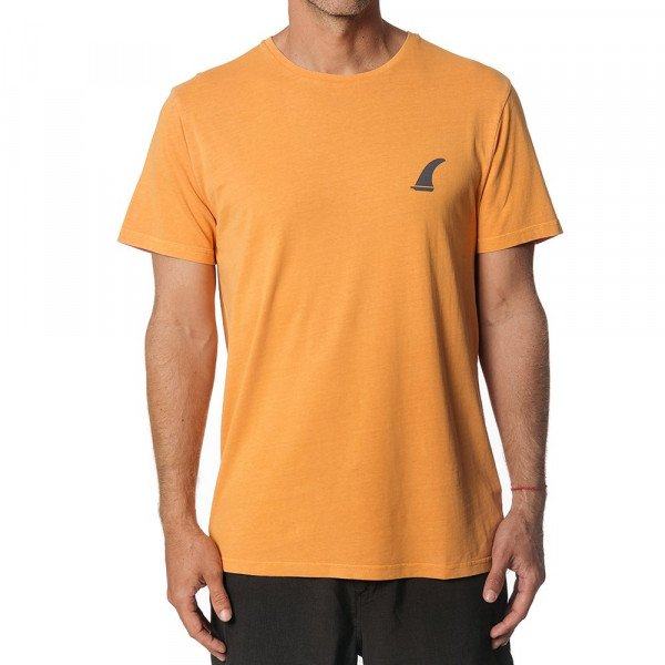 RIP CURL T-SHIRT SURF EMBLEM SS TEE ORANGE S19