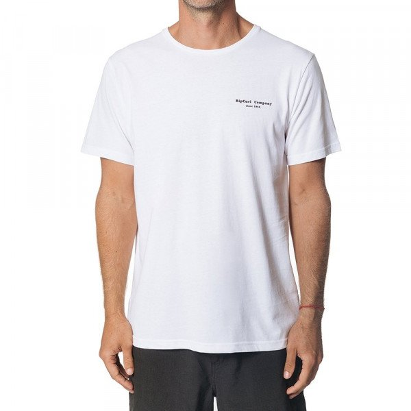 RIP CURL T-SHIRT HAZED & TUBED SS TEE OPTICAL WHITE S19