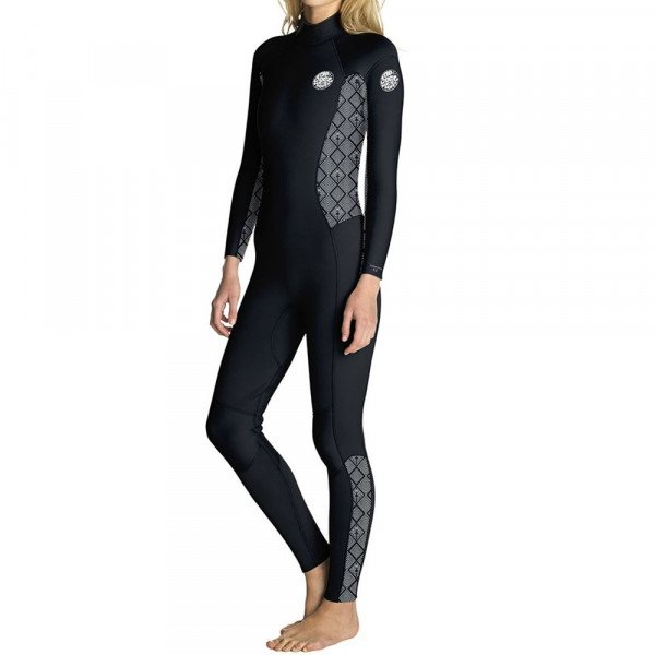 RIP CURL HIDROTĒRPS DAWN PATROL 32 BACK ZIP W BLACK WHITE S19