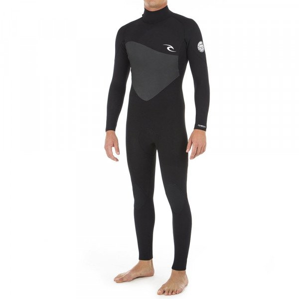 RIP CURL WETSUIT OMEGA 32 BACK ZIP BLACK S19