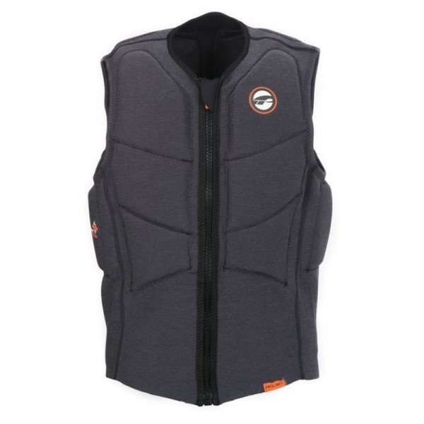 PROLIMIT VESTE STRETCH VEST XF HALF PADDED FZ BLACK ORANGE