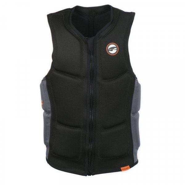 PROLIMIT VESTE SLIDER VEST FULL PADDED FZ BLACK ORANGE S19