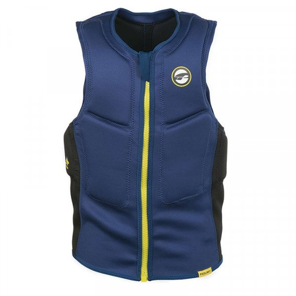 PROLIMIT VESTE SLIDER VEST HALF PADDED FZ NAVY YELLOW S19