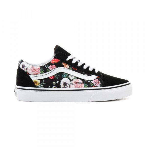 VANS SHOES OLD SKOOL (GARDEN FLORAL) BLACK TRUE WHITE F19