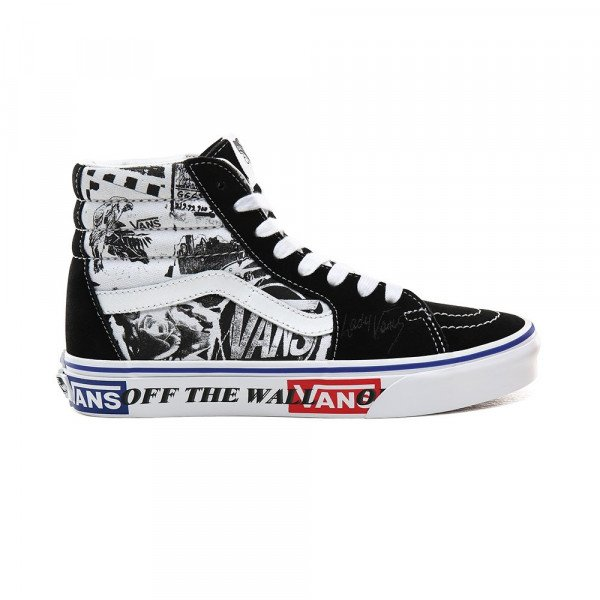 VANS APAVI SK8-HI (LADY VANS) BLACK/TRUE WHITE F19