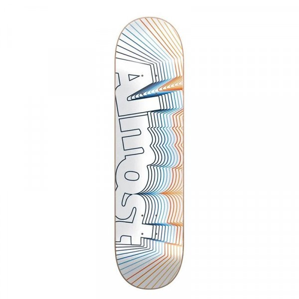 ALMOST DECK VIBRATE LOGO WHITE 8.5