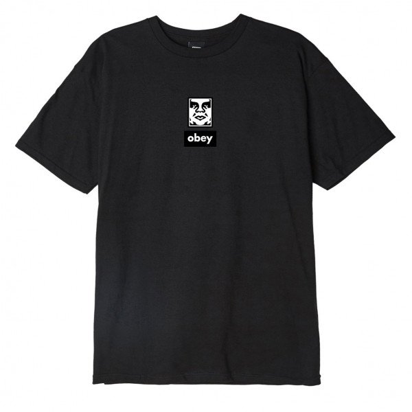 OBEY T-SHIRT OBEY ICON FACE 30 YEARS BLK S19