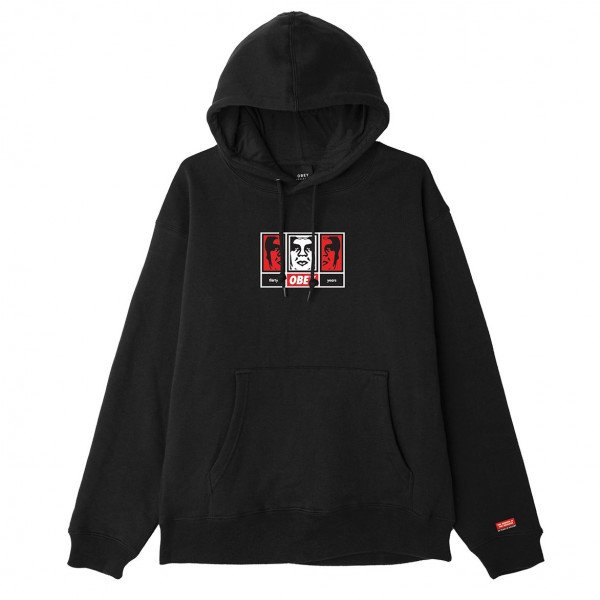 OBEY HOOD OBEY 3 FACES 30 YEARS BLK F19