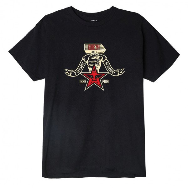 OBEY T-SHIRT OBEY 3 DECADES OF DISSENT W BLK F19