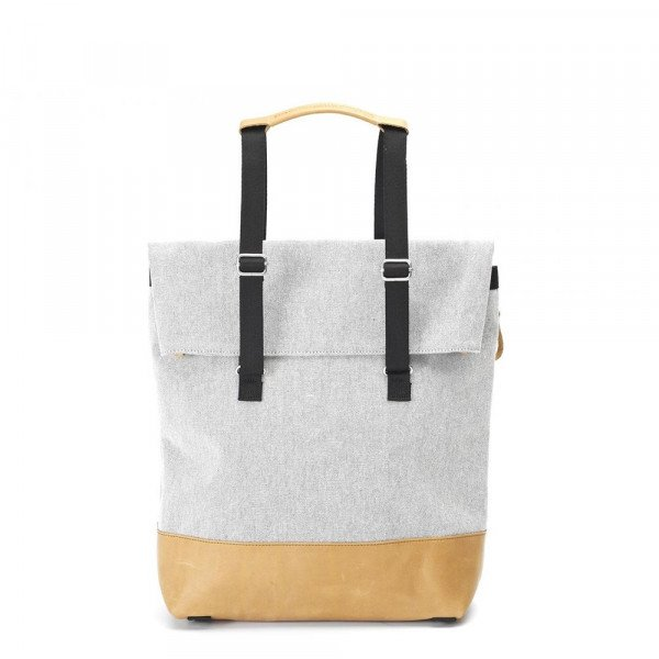 QWSTION BAG TOTE RAW BLEND NATURAL LEATHER