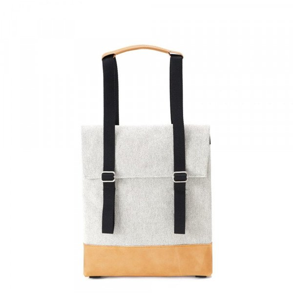 QWSTION BAG SMALL TOTE RAW BLEND NATURAL LEATHER