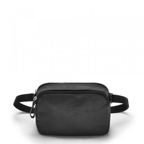 QWSTION BAG HIP BAG ORGANIC JET BLACK