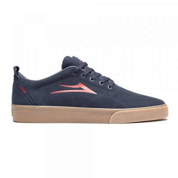 LAKAI SHOES BRISTOL NAVY RED SUEDE F19