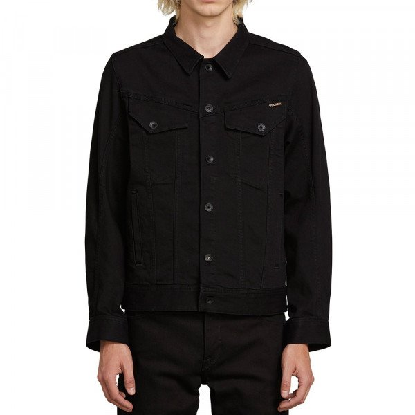 VOLCOM JAKA WEAVER DENIM JACKET BLK F19