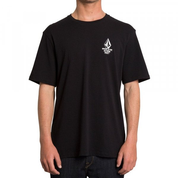 VOLCOM T-SHIRT MIKE GIANT FA SS BLK F19
