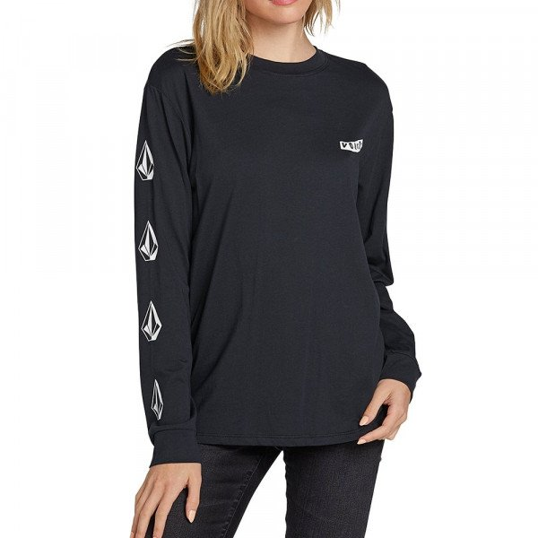 VOLCOM T-SHIRT SIMPLY STONED LS BLK F19