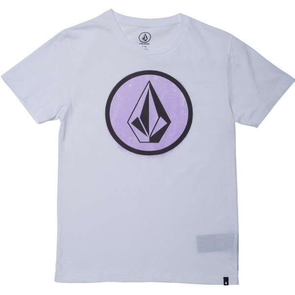 VOLCOM T-SHIRT SPRAY STONE LTW SS KIDS WHT F19