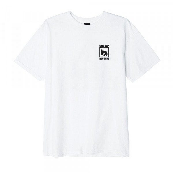 OBEY T-SHIRT OBEY RECORDS ICON WHT F19
