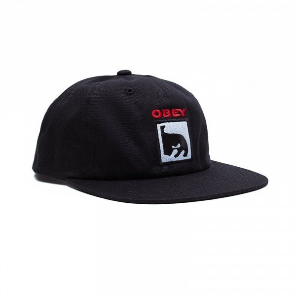 OBEY HAT CHAMPION 6 PANEL SNAPBACK BLK F19