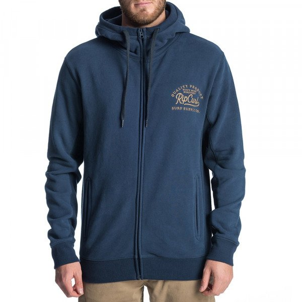 RIP CURL ZIP-HOOD STAY TUNED FLEECE INDIGO F19
