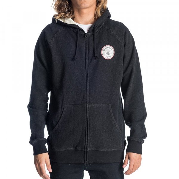 RIP CURL ZIP-HOOD VOLCANIC FLEECE BLACK F19