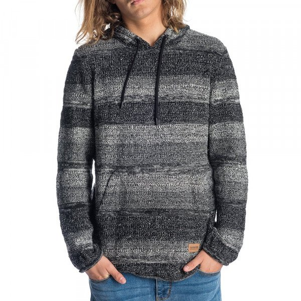 RIP CURL HOOD SCUFFED SWEATER GREY F19