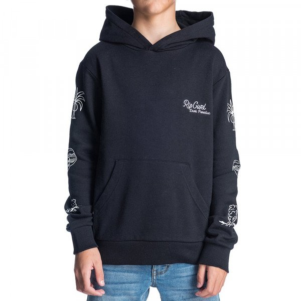 RIP CURL HOOD PARADISE HOODED FLEECE KIDS BLACK F19