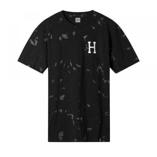 HUF T-SHIRT CLASSIC H TIE DYE BLACK F19