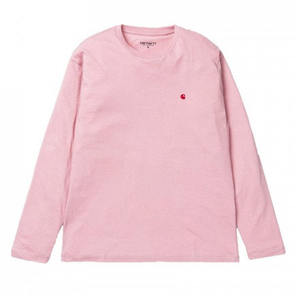 CARHARTT WIP LONGSLEEVE W L/S NEPS CHASE SOFT ROSE F19