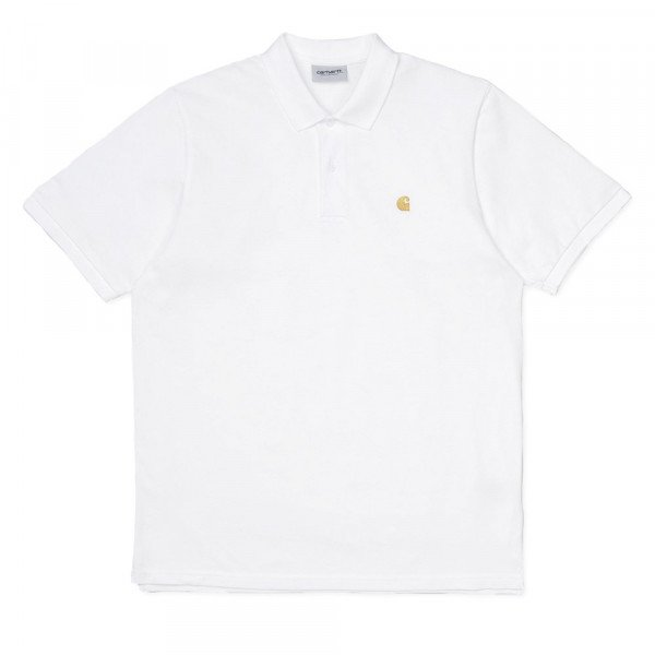 CARHARTT WIP SHIRT S/S CHASE PIQUE POLO WHITE GOLD F19