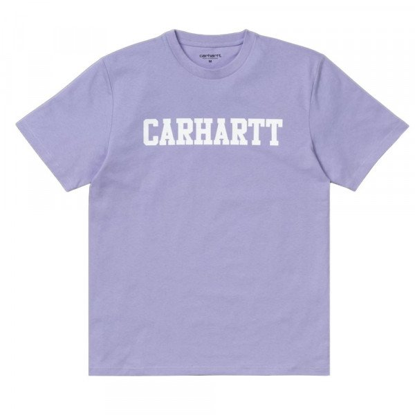 CARHARTT T-SHIRT S/S COLLEGE SOFT LAVENDER WHITE F19
