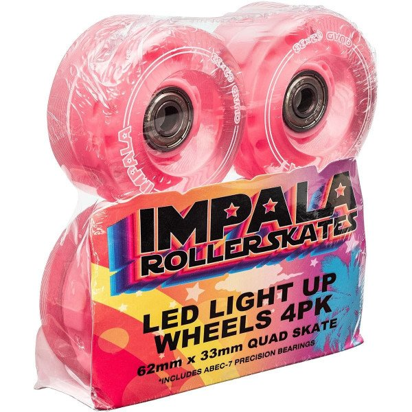 IMPALA LIGHT UP WHEEL 4PK PINK