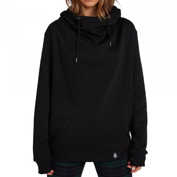 VOLCOM HOOD WALK ON BY HIGH NECK BLK F19