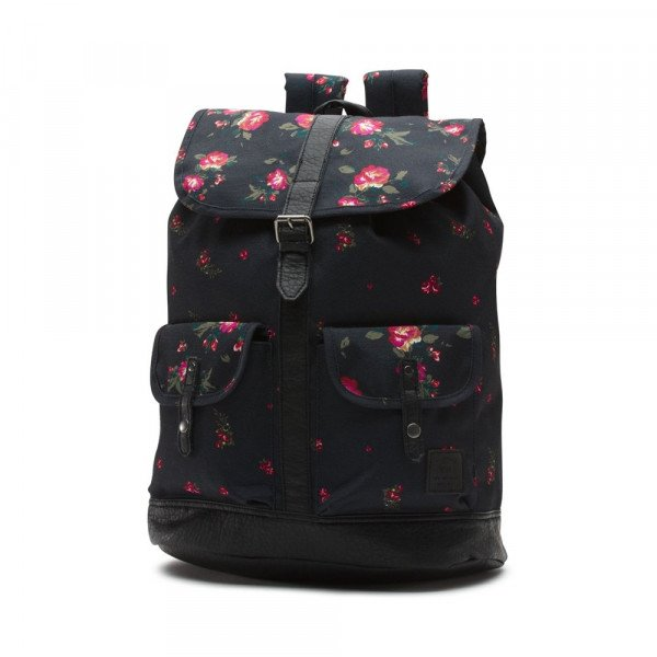VANS BAG LEAN IN BACKPACK FLORAL BLACK F19