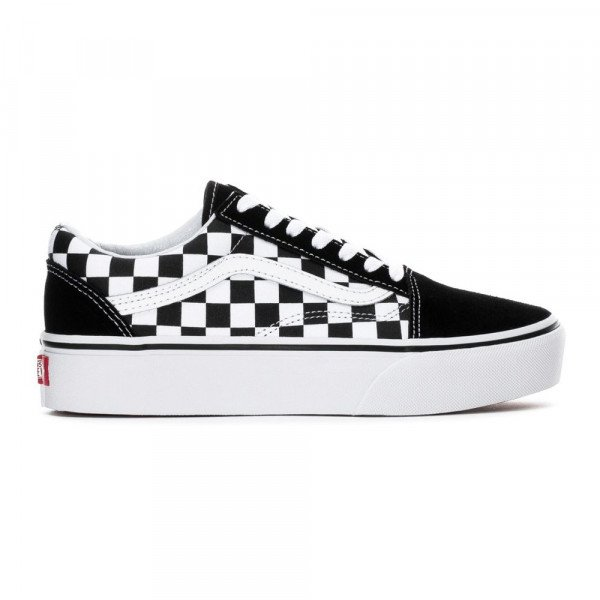 VANS APAVI OLD SKOOL PLATFORM (CHECKERB) BLACK TRUE WHITE F19